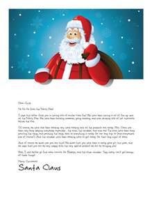 letter from santa formal letter template