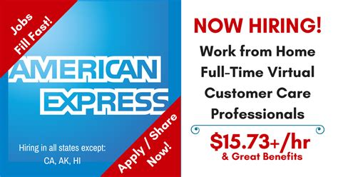american express hiring f t customer care