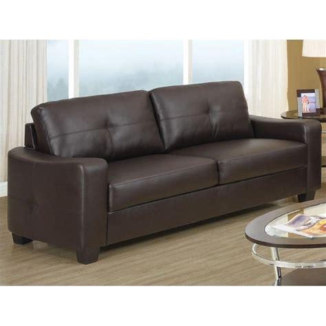 coaster leather sofa coaster jasmine leather sofa in dark brown 502731