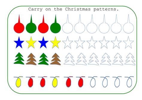 christmas pattern games christmas patterns by joolsfl teaching resources tes