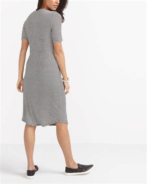 Striped Sleeve Dress striped sleeve dress reitmans