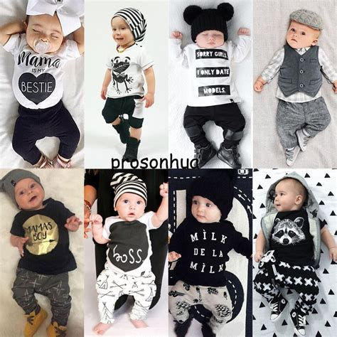 2pcs Baby Boy Clothes 2pcs newborn toddler infant baby boy clothes t shirt