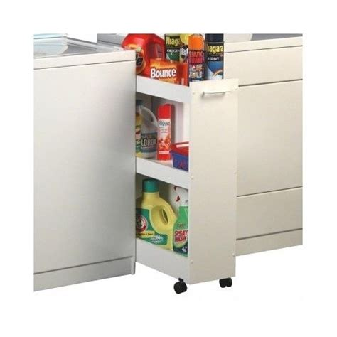 Laundry Room Storage Cabinet Laundry Room Storage Caddy Organizer Shelves Garage Cabinet Roll Out Wheels Cart Ebay