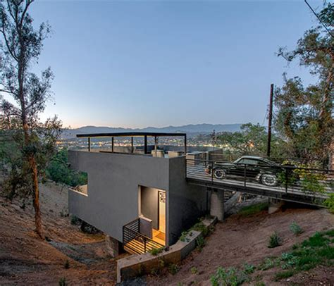 A Frame Cabin Plans House In Reverse Rooftop Driveway Leads To Hillside Home
