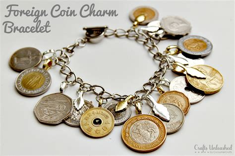 DIY Charm Bracelet: Foreign Coins   Crafts Unleashed