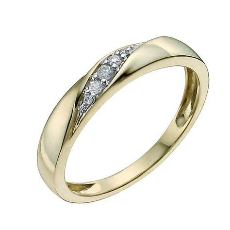 9ct yellow set ring h samuel