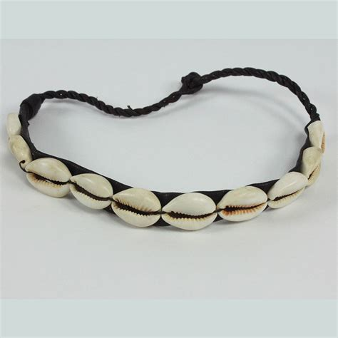 vintage necklace cowrie shell choker leather shell choker