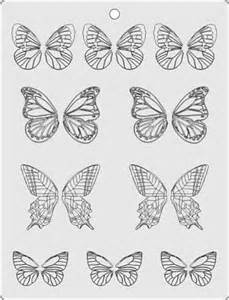 Chocolate Stencil Templates by Butterfly Template Stencil For Chocolate Decorations