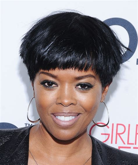 what type of flat iron does malinda williams use malinda williams short straight casual hairstyle black ash