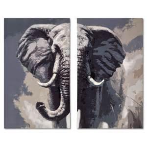 American Signature Sofas Elephant 2 Pc Canvas Print Value City Furniture
