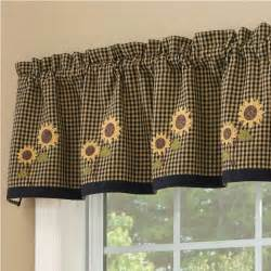 navy valances window treatments sunflower kitchen