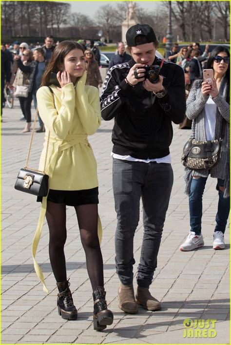 romeo beckham eye color are brooklyn beckham ex girlfriend sonia ben ammar back