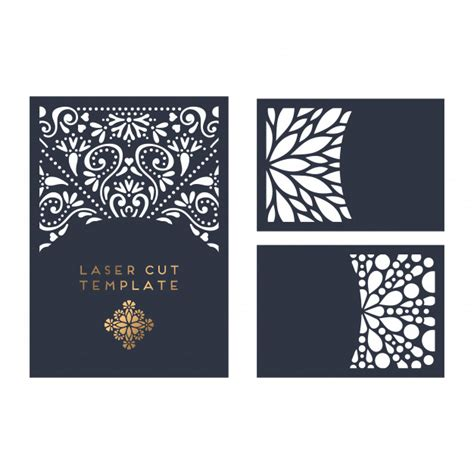Vector Wedding Card Laser Cut Template Vector Free Download Laser Cut L Template