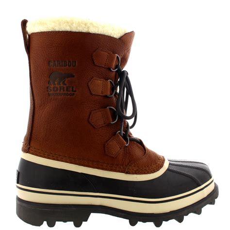 sorel winter boots mens mens sorel caribou wi fur mid calf warm snow winter