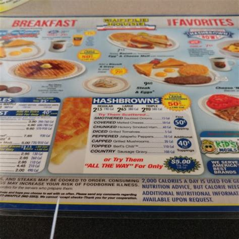 Waffle House Christiansburg Va by Menu Picture Of Waffle House Christiansburg Tripadvisor