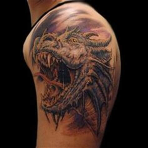 realistic dragon tattoo realistic icy dragon head tattoo