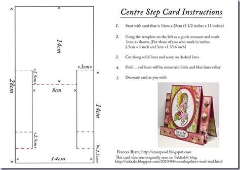 4 step card template stowl s studio a bug it s a paper pretties