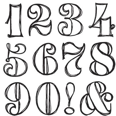 fancy printable numbers 1 10 fancy numbers google search lettering fonts