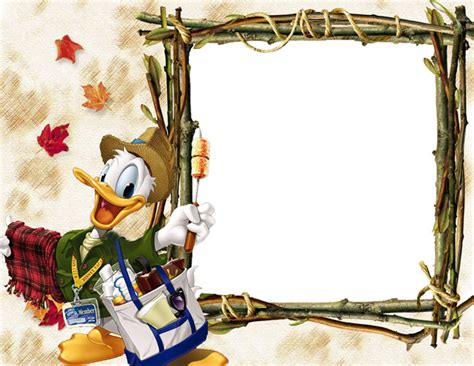 free photo frame template donald duck photo frame templates psd material