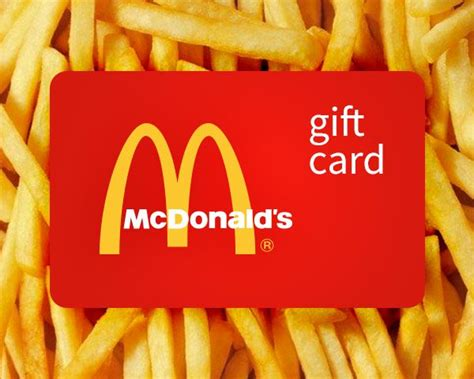 Mcdonalds Gift Card Giveaway - best 25 mcdonalds gift card ideas on pinterest