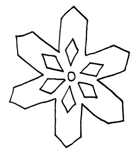 Easy Snowflake Template simple coloring page az coloring pages