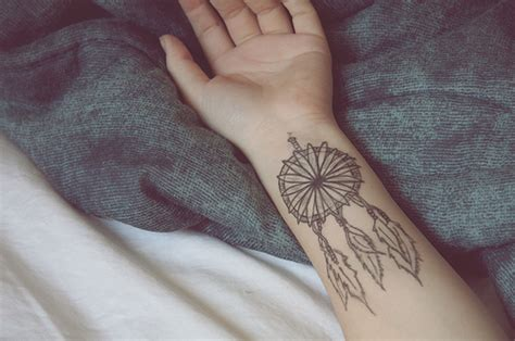 dreamer wrist tattoo catcher feathers wrist wrist