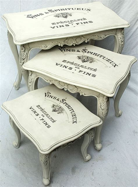 chalk paint nest of tables painted vintage nesting tables reader featured project