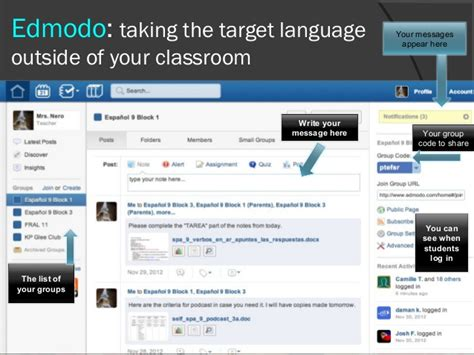 edmodo french using technology in the spanish and french classroom