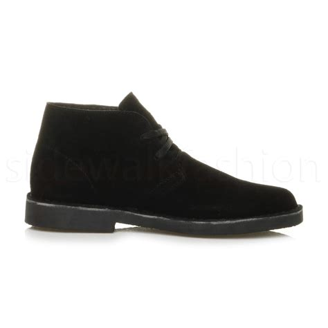 flat suede shoes mens lace up classic desert suede leather casual ankle