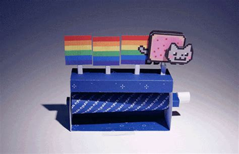 Cool Crafts With Paper - paper craft nyan cat is and cool slashgear
