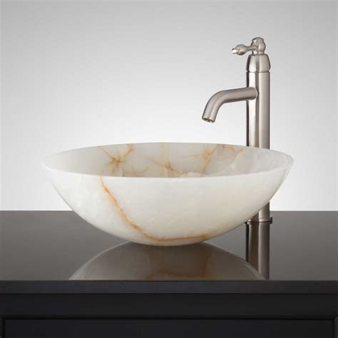 onyx bathroom sinks white onyx sink signaturehardware com