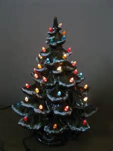 vintage large 19 ceramic lighted christmas tree 1970