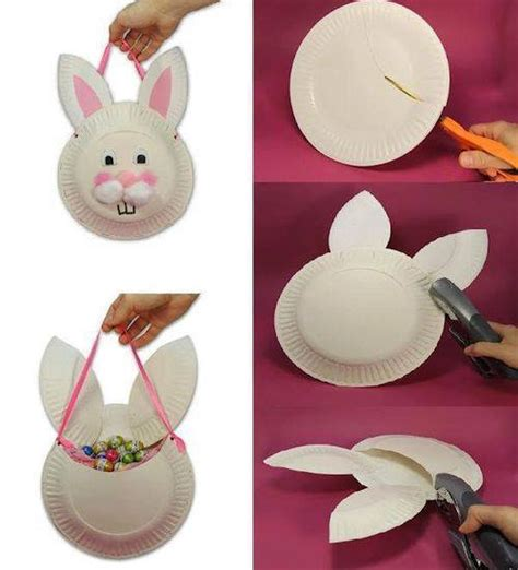 How To Make Paper Plates At Home - paper plate bunny bag diy cozy home