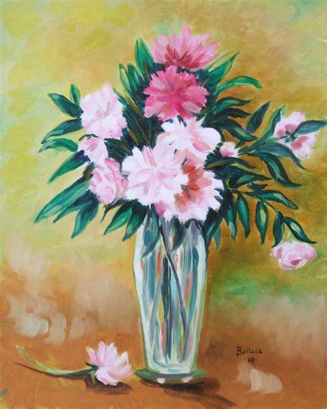 vaso con fiori mariarosaria bellone dipinti colori emozioni