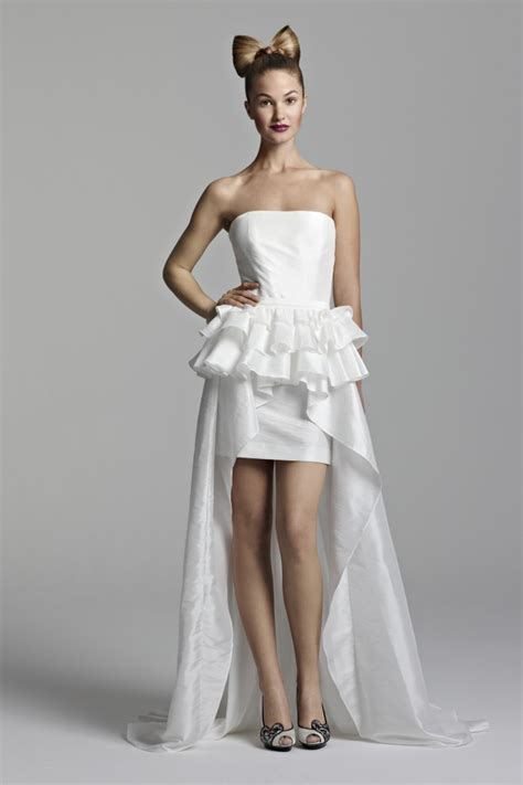 astonishing bridal view in short dress 2011 trends