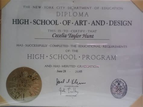 design certificate programs nyc high school of art and design cecelia quot the musicbox