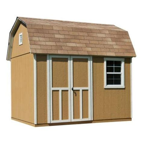 Home Depot Wood Storage Sheds by Handy Home Products Briarwood 10 Ft X 8 Ft Wood Storage