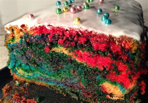 regenbogen kuchen kastenform papageien kuchen parrot cake vegan nom noms food