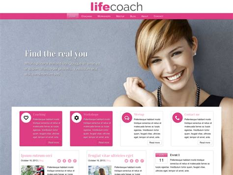website templates for life coaches life coach wordpress theme for life coaches