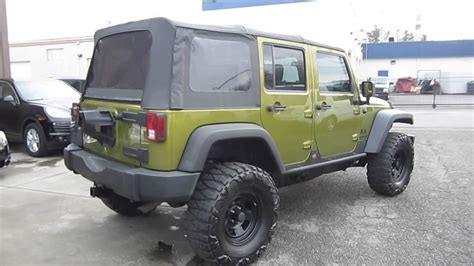 rescue green jeep rubicon 2008 jeep wrangler rescue green metallic stock 548614