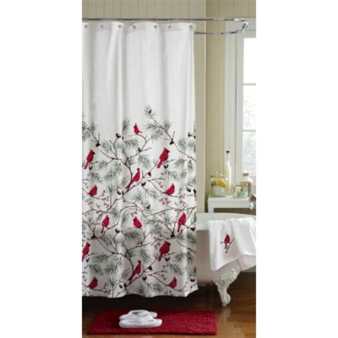 bathroom collection winter cardinals christmas bathroom collection shower