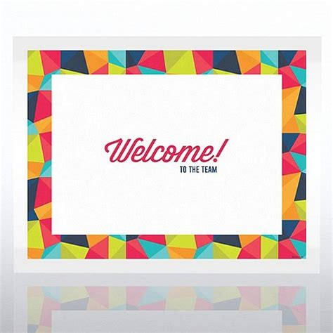 welcome certificate paper at baudville com