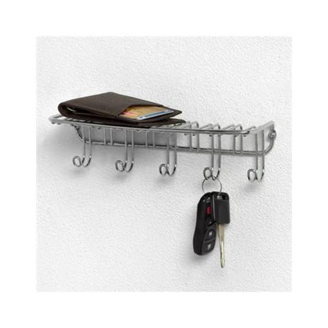 wall mount key rack chrome in key organizers