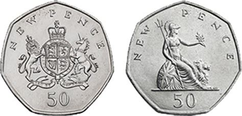 the seven sides of a 50p coin