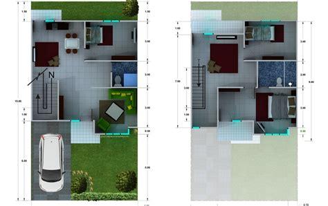 desain rumah ukuran 8x15 1 lantai denah new denah rumah minimalis 2 lantai ukuran 8x15