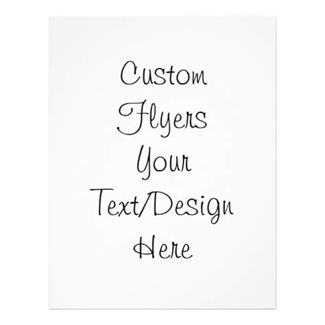 Blank Create Your Own Custom - create your own customize blank color flyer zazzle