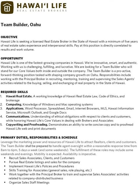 resume exle real estate professional resume sle real estate resume objective