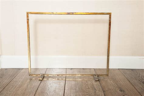 glass fireplace screen a 1970s quot regency quot brass and glass screen at 1stdibs