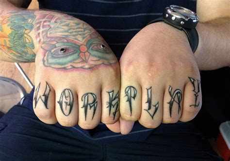 40 graceful knuckle finger tattoos