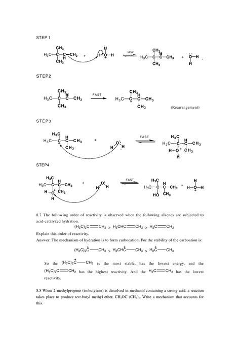 1 butene hydration alkene